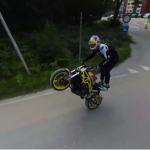Being a motorcycle stuntrider it will not leave you in any way indifferent in 360