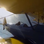 A biplane flight through the clouds that you will remember in 360