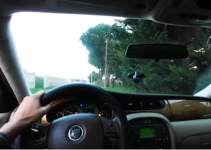 Car accident in a 360° video