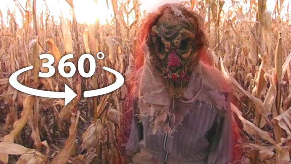 A 360° scarecrow horror experience