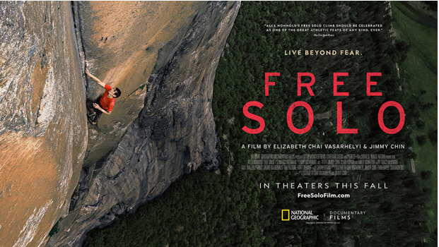Free solo climbing in a 360 perspective
