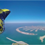 360° Wingsuit flying video over Dubai