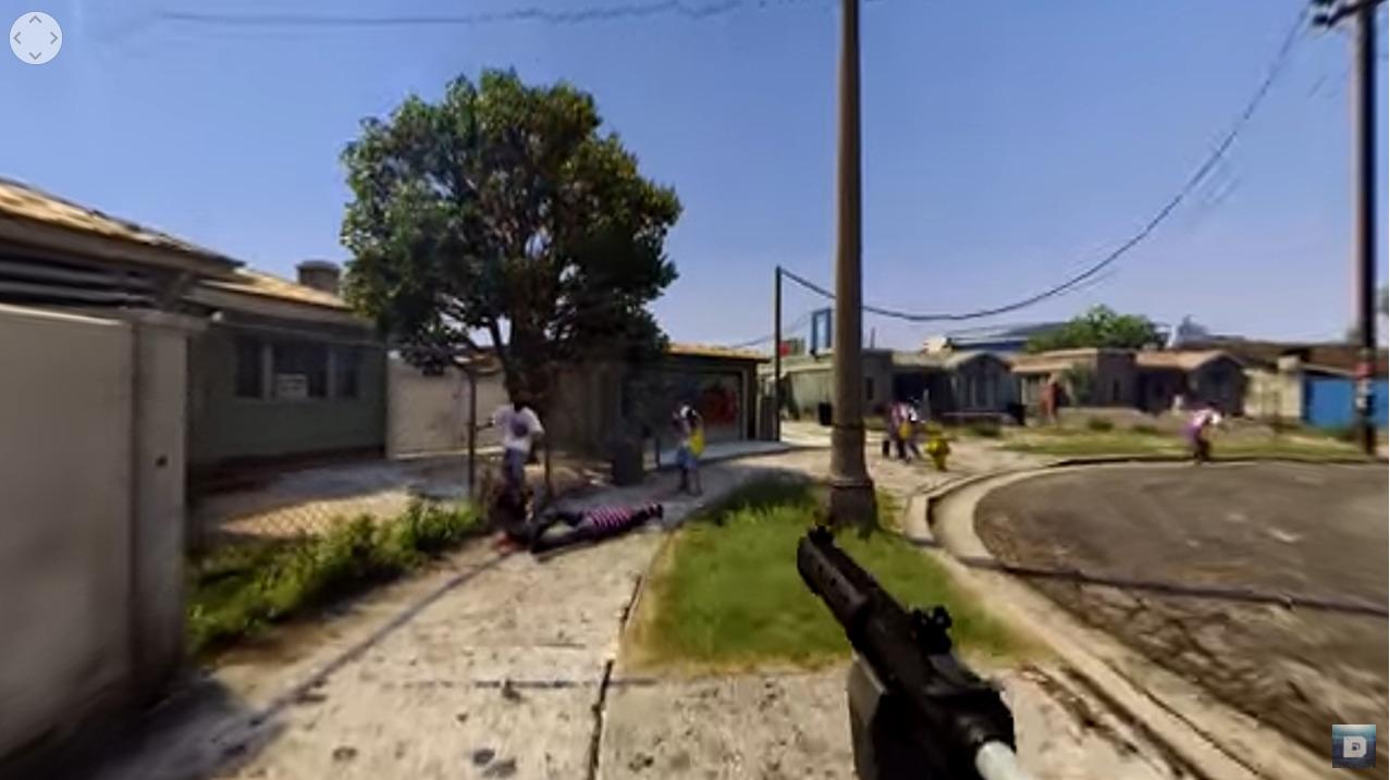 GTA 5 gameplay in VR 360